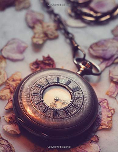 Notebook: Clock old historically wind up horology antique time pendulum clock frequency watch water clock hour International Silver Orchid