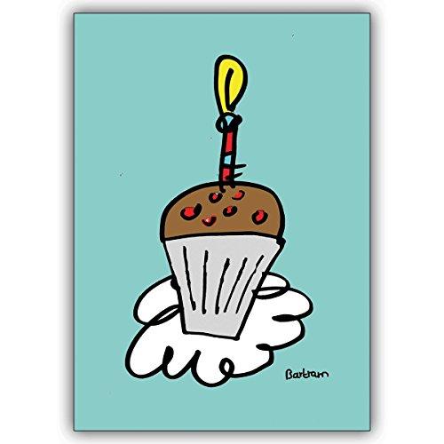 Verschicken Sie statt Kuchen diese Geburtstags Muffin Klappkarte (Mehr Halloween Muffins Kinder)