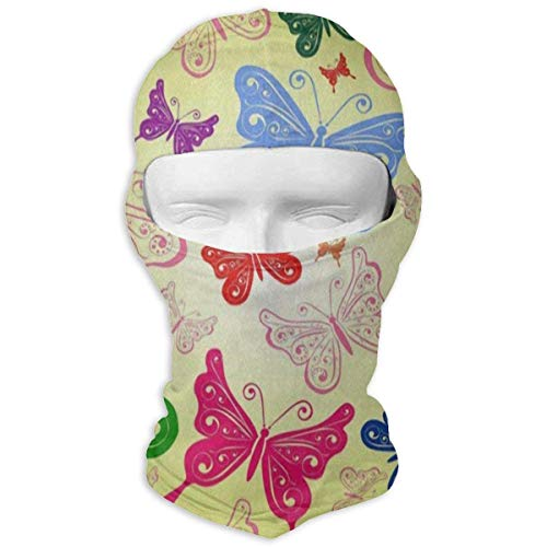 Vidmkeo Balaclava Colored Giraffe Polka Dot Full Face Masks Motorcycle Neck Hood Unisex16 Polka Dot Hood