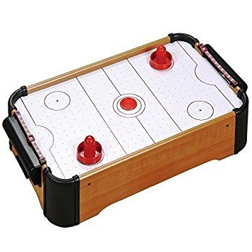 Spiel W Hockey (MINI TISCHPLATTE AIRHOCKEY SPIEL DRÜCKER-SCHEIBEN FAMILIE WEIHNACHTSGESCHENK ARCADE SPIELZEUG SPIELSET)