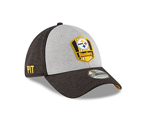New Era Pittsburgh Steelers on Field Sideline 18 Road 3930 39thirty Cap Curved Visor M L NFL