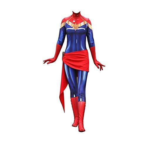 POIUYT Avengers League of Legends Überraschungskapitän Cosplay Siamese Tights Spielkostüm Themenparty Halloween (Red , Adult) -Parallel Universum,Children-XS (Halloween-league Legends Of Keine)