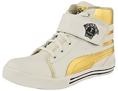 LeeGraim Men's White High Top Shoes - 10 UK