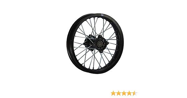 Hmparts Alu Felge Eloxiert 14 Zoll Hinten Schwarz 15 Mm Typ2 Pit Bike Dirt Bike Cross Auto