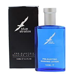 TWO PACKS of Blue Stratos Pre-Electric Shaving Lotion 100ml