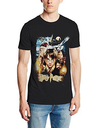 Harry Potter Friends, Camiseta para Hombre, Black, XX-Large