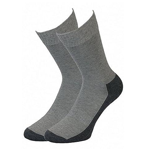 Camano unisex Sport Socken ohne Gummidruck 6er Pack, Größe:47-49;Farbe:Grey (10)