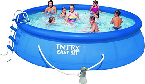 Intex Easy Set Pool Set, blau, 244 x 244 x 76 cm, 2,42 L, 28112GN