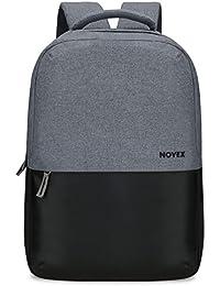 """Novex epoch 25 litres Polyester Grey & Black 15.6"""" Laptop Backpack"""