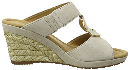 Gabor 62.825, Sandales Compensées Femme Beige (beige Bast)
