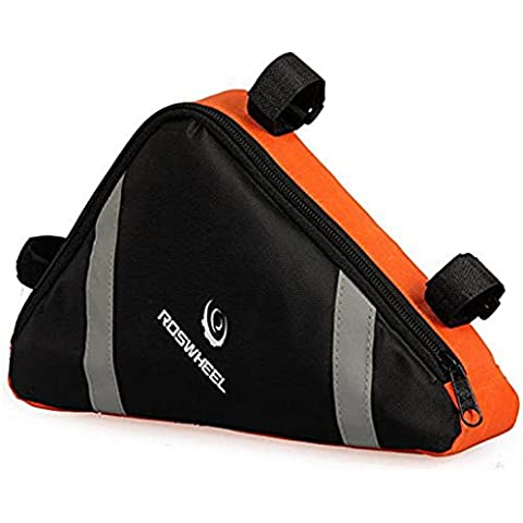 Vollter Al aire libre de la bici del bolso del triángulo delantero Bolsa de sillín superior del marco del tubo de la bolsa