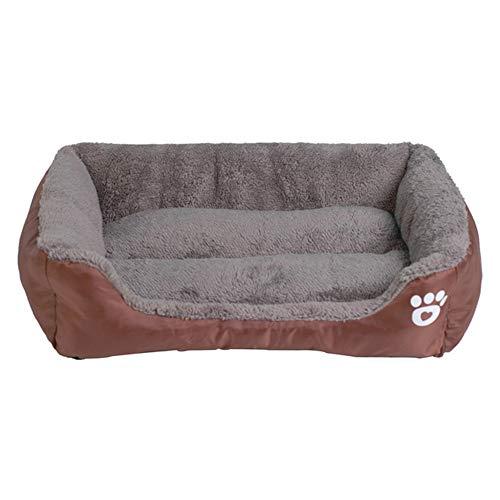LJXX Pet House 9 Farbe Pet Sofa Hundebett wasserdichte Unterseite Weiche Wolle Warme Katze Bett Haus XXL Kaffee