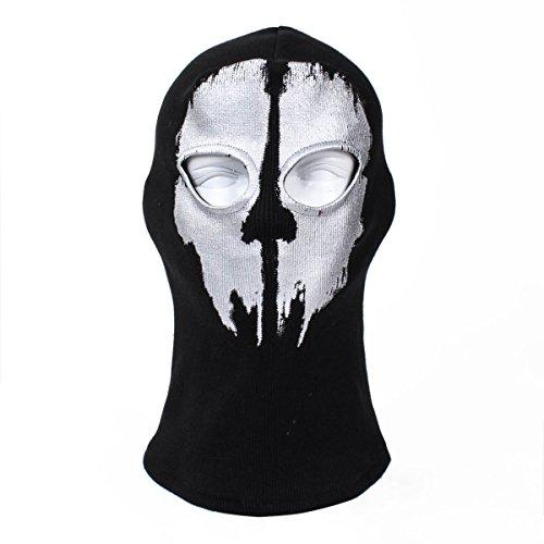 Sturmhaube Ghost Winter für Herren Damen Face Shield Ski Motorrad Paintball Airsoft Halloween Maske (Ghosts Of Halloween-maske Call Duty)