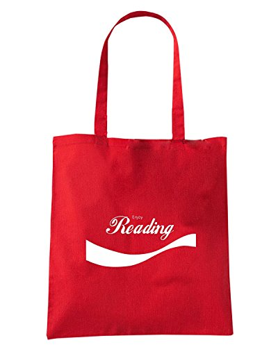 T-Shirtshock - Borsa Shopping ENJOY0077 Enjoy Reading Rosso