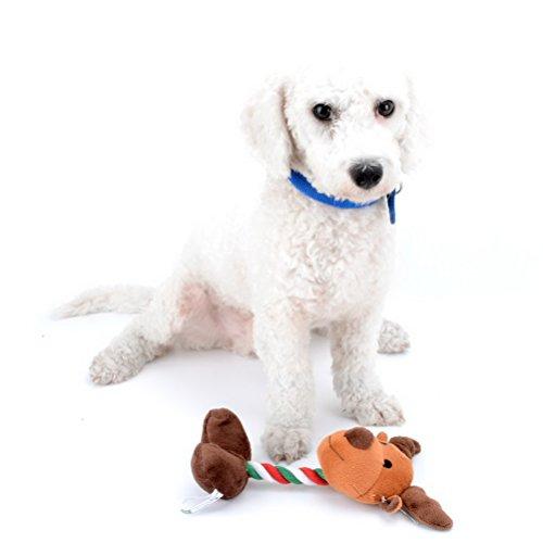 zunea Dog Squeaker Spielzeug für Langeweile Hundespielzeug für Weihnachten Indoor Outdoor Spielen gefüllt Spielzeug für Hund Halloween Urlaub Santa Claus Schneemann Pinguin - Halloween-indoor-spiele Aktivitäten Und
