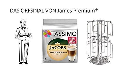 Tassimo Kapselhalter für 64 Kapseln Größter Kapselhalter auf dem Markt geschütztes Design + Latte Vanilla