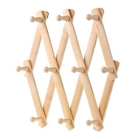 Cintre multifonction en bois massif haut de gamme Porte-manteaux Crochets
