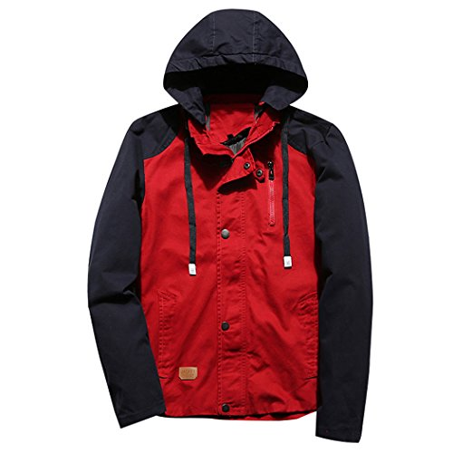 WALK-LEADER - Manteau - Personnage - Col Rond - Manches Longues - Homme Rouge