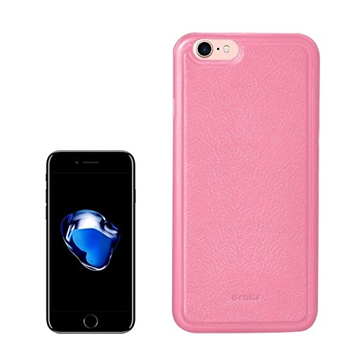 Wkae Benks für iPhone 7 Magnet Litchi Beschaffenheit PP + PU Paste Haut Schutzhülle für iPhone 7 ( Color : Black ) Pink