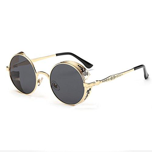 OverDose Unisex Vintage Classic Metallrahmen Sonnenbrille Katzenaugen Brille Reflektierenden Spiegel (E-A)