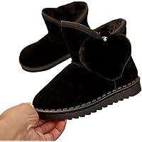 Evokems Botas para la Nieve de Invierno cálido Suave Suave Antideslizante Casual para niños Chasis de Silla de Paseo para Silla de Coche