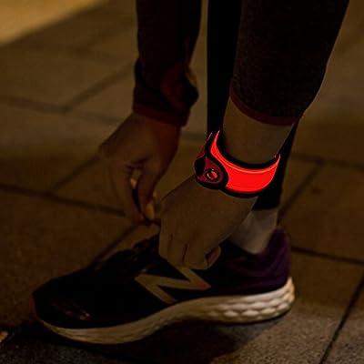 XiRRiX LED Armband joggen - Sportleuchte - Sicherheit beim Jogging Laufen Fahrrad - Helles Licht - Leuchtarmband Blinklicht orange