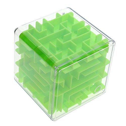 Zeuxs magischer 3D-Labyrinth-Würfel, für Kinder und Erwachsene, grün