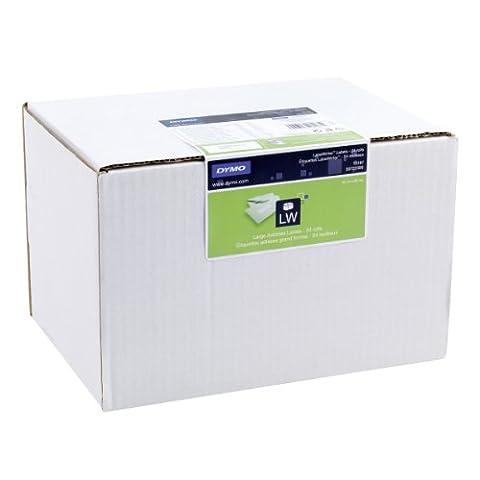 Dymo S0722390 Grandes Étiquettes d'Adresses Permanentes Labelwriter, 36mm X 89mm (Lot de 24Rouleaux de 260Étiquettes), Impression en Noir Sur Fond Blanc