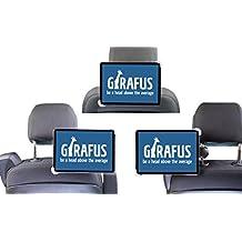 Girafus soporte de reposacabezas del vehículo rotativo 7-10.5 '' tabletas desde el asiento delantero operable