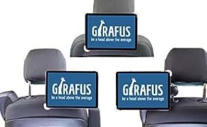 Porta Tablet Samsung Galaxy / iPad e molti altri (da 7 a 10,5 pollici) - Supporto per Poggiatesta Auto o Camion - Rotazione a 360° - Puoi Azionare il tuo Notepad dal Sedile Anteriore - by Girafus