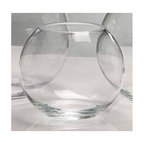 Glaskugel, Kugelvase GLOBE H. 17cm D. 19cm Glas transparent Sandra Rich