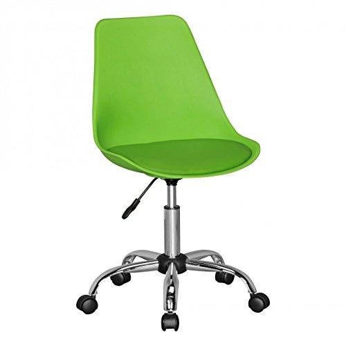 FineBuy HAINAN   Drehstuhl mit Kunstleder-Sitzfläche Grün   Drehsessel ist höhenverstellbar  ...