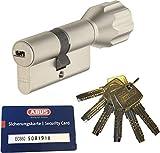 ABUS EC660 ECK660 Profil-Knaufzylinder Länge (a/b) Z35/K40mm (c=75mm) mit 6 Schlüssel, mit Sicherungskarte