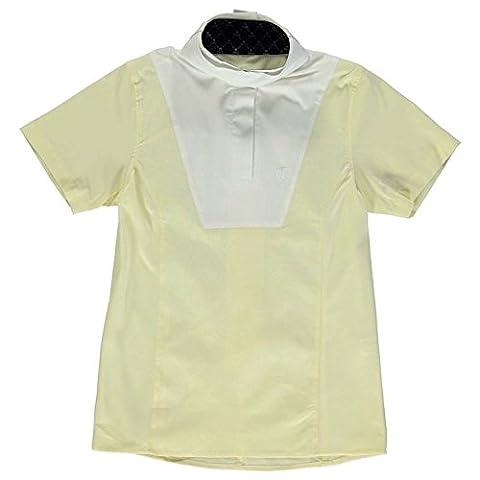 Tagg Kids Saumur Short Sleeve Stock Shirt Junior Girls Breathable Mesh Champagne 11-12 (LG)