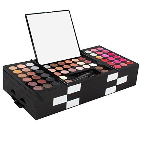Jascherry 148 colori palette ombretti ombretto con rossetti, fondotinta compatto e blush fard - cosmetico tavolozza per trucco occhi