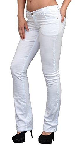 by-tex Damen Röhrenjeans Damen Jeans Damen Jeanshose bis Übergröße Übergrösse Gr. 48, 50, 52, 54, 56, 58 J66-weiß