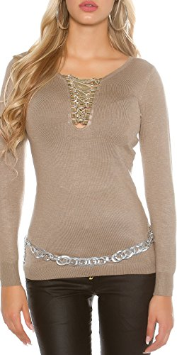In-Stylefashion - Sweat-shirt - Femme marron taupe taille unique Taupe