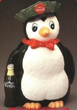 Vintage Coca Cola Penguin Cookie Jar by Coca COla (Vintage Penguin)
