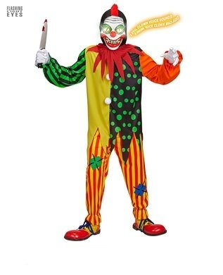 HORROR CLOWN 128cm FOR HALLOWEEN FANCY DRESS - Halloween-payaso De Disfraces