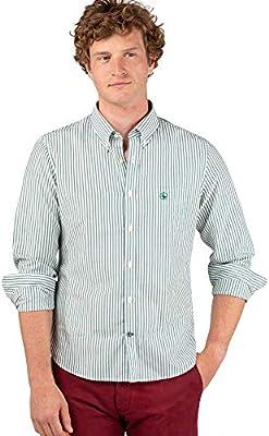 El Ganso 1 Camisa casual, Verde (Verde 0051), edium para Hombre