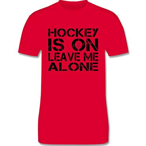 Eishockey - Hockey Is On - Herren Premium T-Shirt Rot