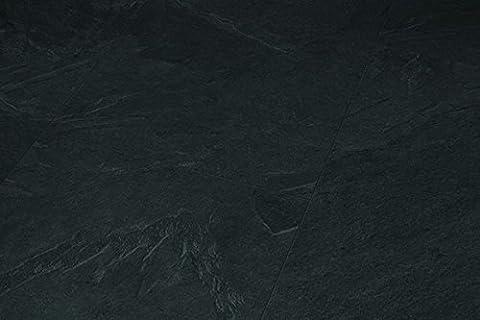 PARADOR Trendtime 5 - Laminatfußbodenbelag Klick Steindekor Laminat Schiefer anthrazit Steinstruktur 4-seitige V-Fuge, Betonfarben, Fliesenoptik 1601079 Paket a 2,10m²