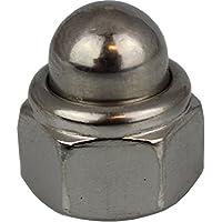 10 Stück Hutmuttern M10 selbstsichernd mit nichtmetallischem Klemmteil DIN 986 Edelstahl A2