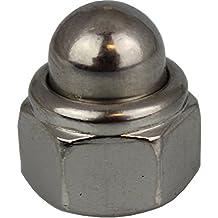 25 Stück Hutmuttern selbstsichernd DIN 986 A2 M4 Edelstahl V2A