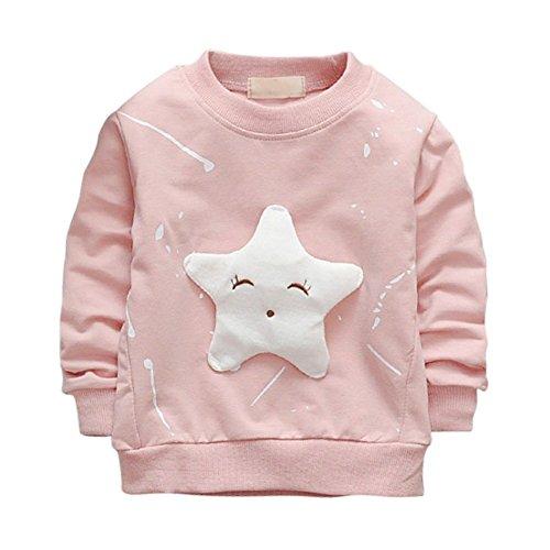 ESHOO Baby Mädchen Pullover Star Bedrucktes Langarm T-Shirt Baby Pullover