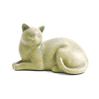 Near & Dear Pet Memorials Cozy Cat Resin Cremation Urn, 25 Cubic Inch, Fawn 41ixtKbzyJL