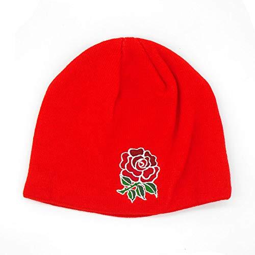 England RFU Acrylic Fleece Beanie Hat 2017 - Fiery Red -