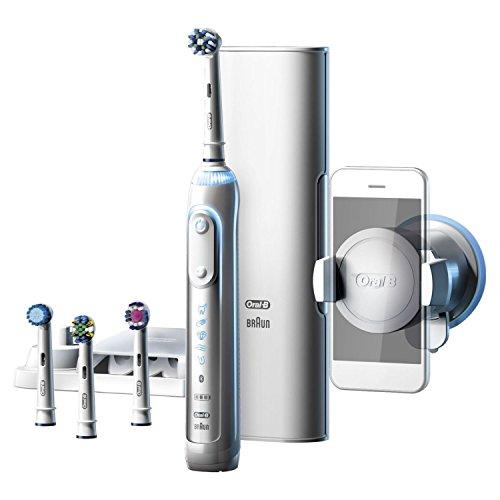 Oral-B Genius 9000S Elektrische Zahnbürste Rose Gold, Premium Lade-Reise-Etui 4 Aufsteckbürsten Vorteils-Set + 1 Tube SPLAT Special Gold Whitening Zahnpasta 75 ml