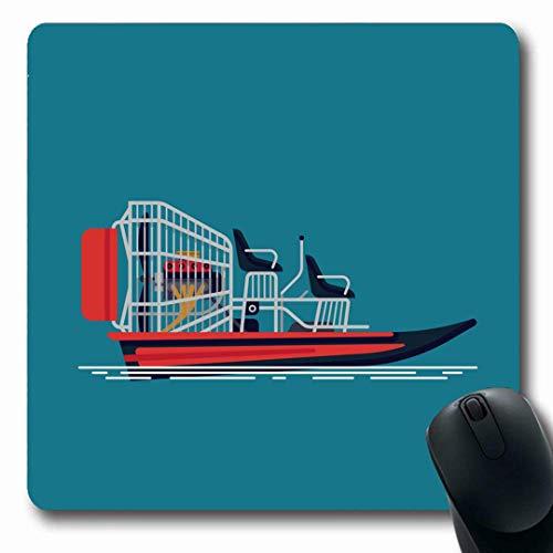 Luancrop Mousepads Wetland Aktivität Cool auf Freizeit Airboat Trip Attraktion Boot Ökotourismus Motor Fanboat Design rutschfeste Gaming Mouse Pad Gummi-Matte