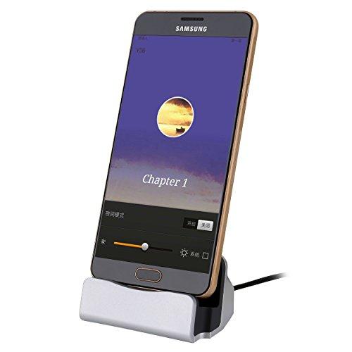 Liamoo Dockingstation Micro-USB Docking-Station Daten- u. Ladestation für Android Handy Samsung, HTC, Sony, Huawei usw. in Silber